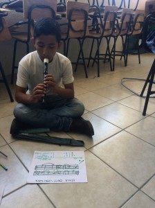 One of my students sight reading the Star Wars sheet music